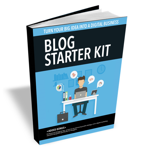 blog starter kit ebook cover