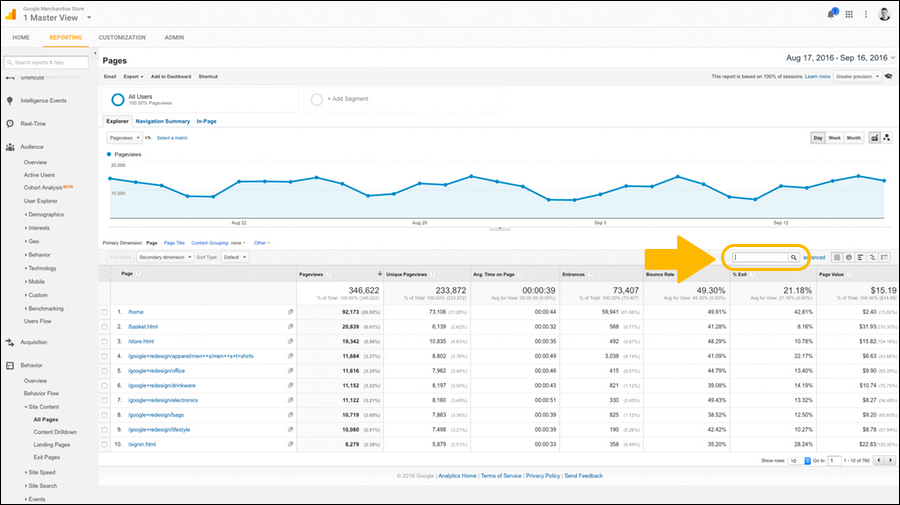 google-analytics-filter-page-results