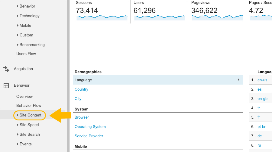 google-analytics-site-content