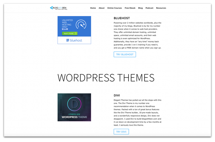 blog with ben resource page curated content