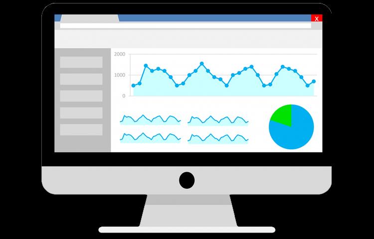 graphic of google analytics dashboard