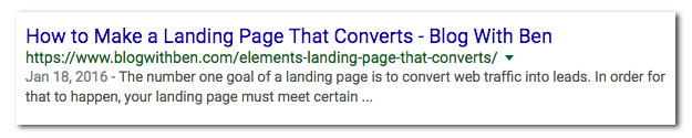 SERPS headline