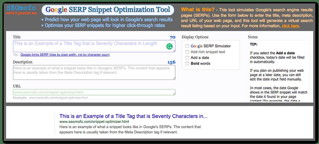google serps tool