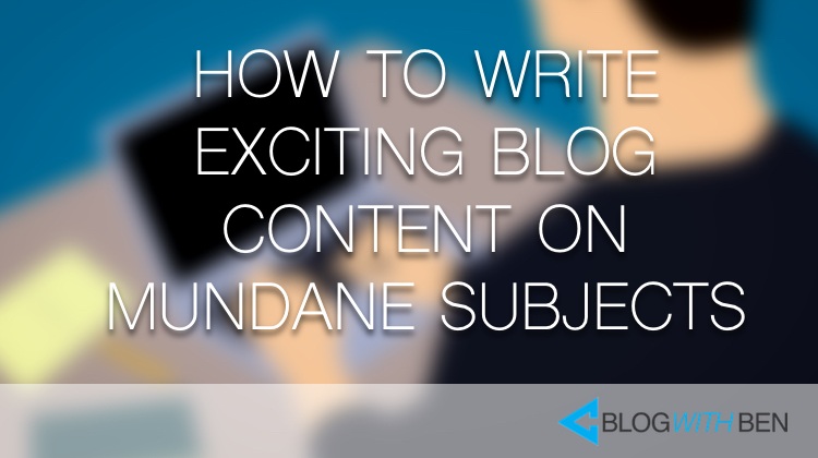 how to write blog for subject